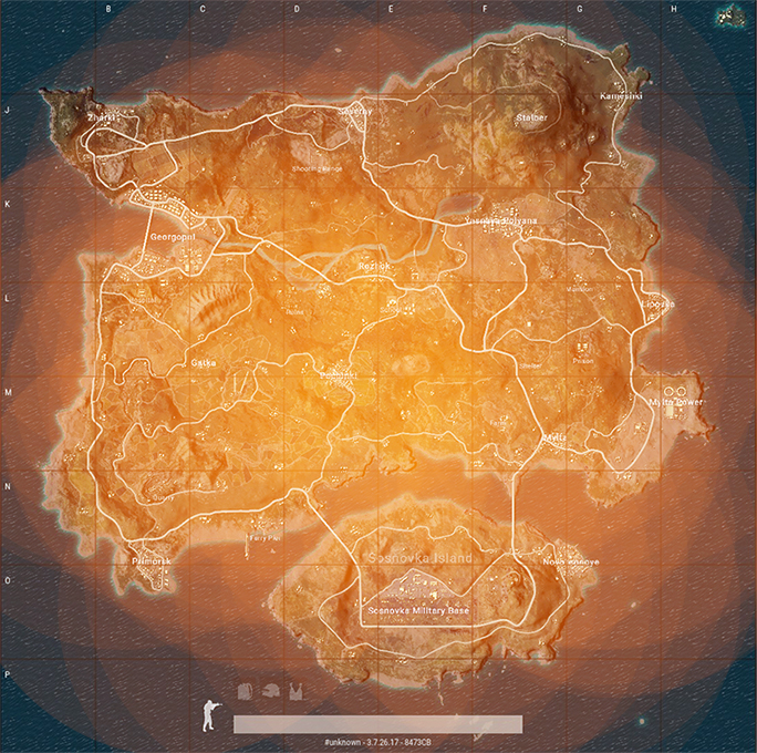 Erangel Circle Heatmap
